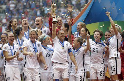 On July 5 of 2015, the US team defeated Japan 5-2 in the FIFA Women's World Cup soccer championship in Vancouver, British Columbia. (AP)