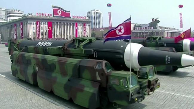 North Korea`s military parade. Yonhap