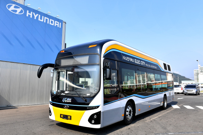 Hydrogen city bus that started pilot operation in Ulsan (Hyundai Motor)