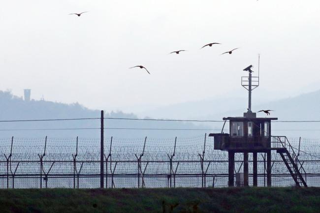 South Korea`s guard post near DMZ. Yonhap