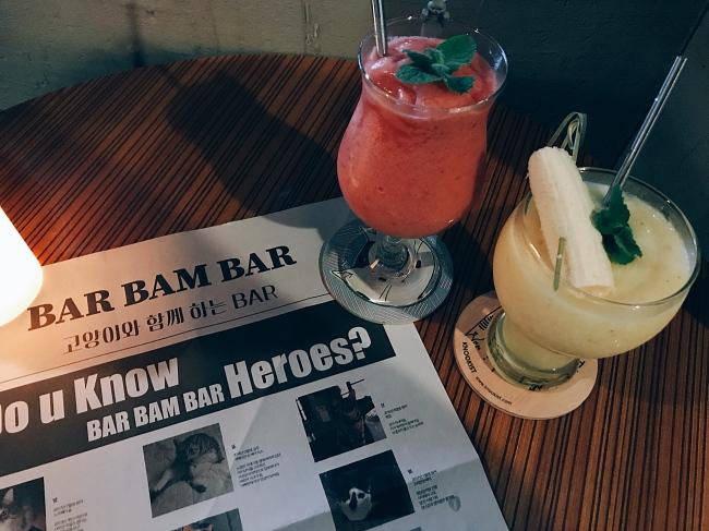 Bar Bam Bar's menu has profiles of 11 cats at the bar. (Bar Bam Bar)