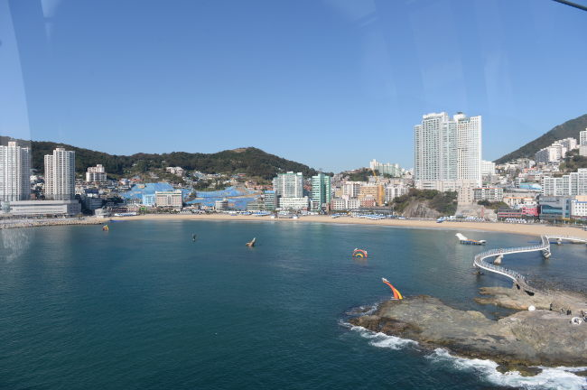The Songdo area in Busan, is seen from a cable car. (GNC21)