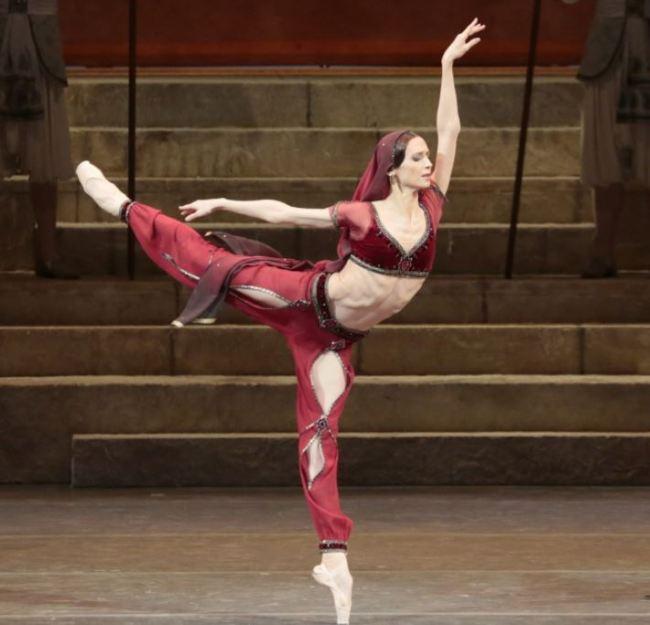 "Bolshoi Ballet's prima ballerina Svetlana Zakharova performs ""La Bayadere."" (Universal Ballet)"