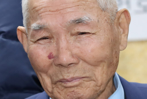 Lee Choon-shik, 94, the only surviving plaintiff who filed the compensation suit agasint a Japanese company. (Yonhap)