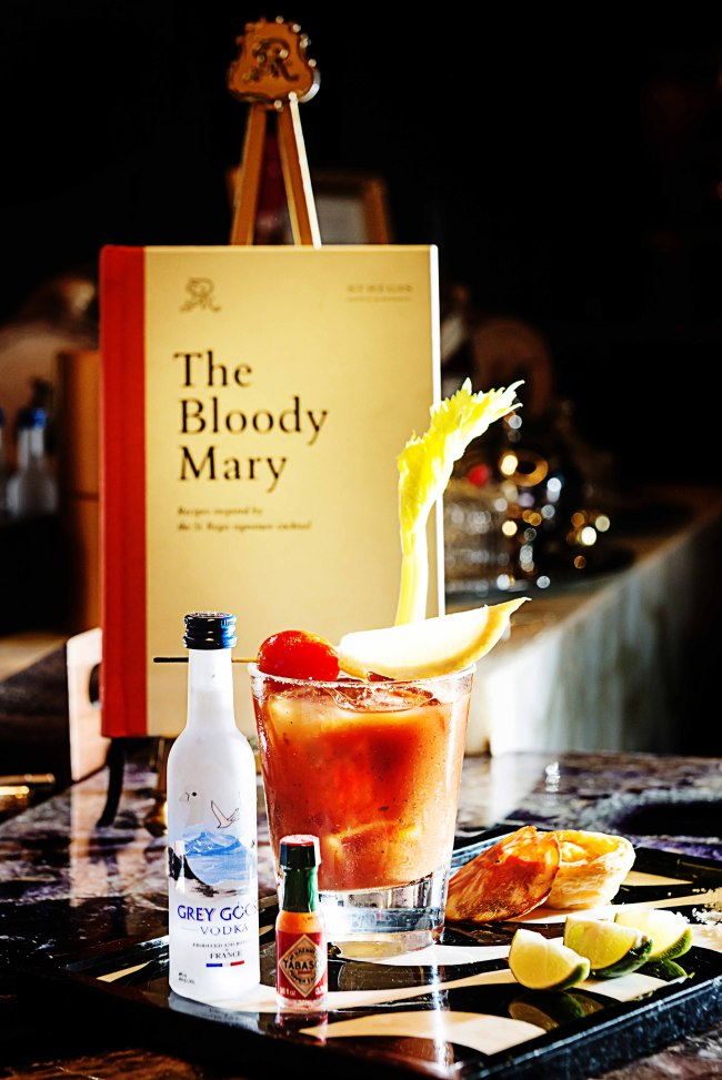 The Maria do Leste is The St. Regis Macao's interpretation of the iconic Bloody Mary, created with inspiration from Macau's unique culture. (Hong Tae-shik)