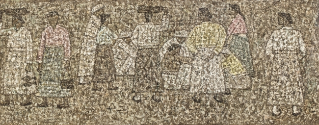 """Park Su-geun's """"People at the Marketplace"""" (K Auction)"""