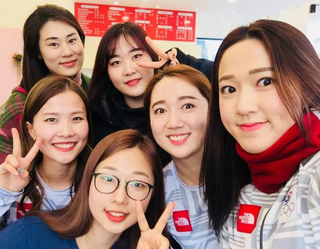 The women's curling team (Yonhap)