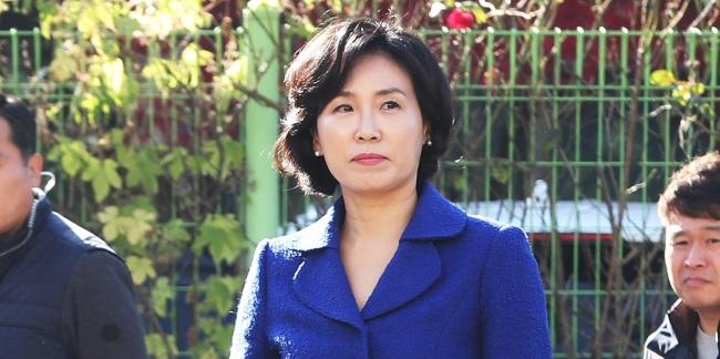 Kim Hye-gyeong, the wife of the Gyeonggi governor Lee Jae-myung (Yonhap)