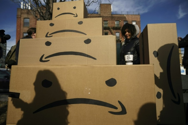 Amazon is getting hefty incentives for its new headquarters in New York and Virginia, following a pattern of other companies that seek tax breaks (AFP)
