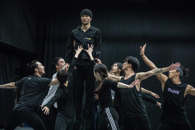 "Dancers rehearse Ahn Sung-soo's interpretation of ""The Rite of Spring"" (KNCDC)"