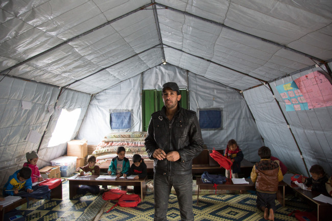 A Concern Worldwide staff in Lebanon, where Syrian and Palestinian refugees have take refuge (Concern Worldwide)