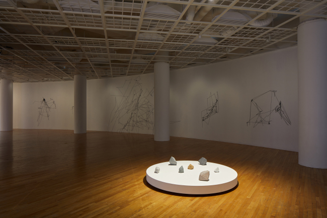 "An installation view of Julien Previeux's first solo exhibition, ""Pinch-to-Zoom"" /(Art Sonje Center)"