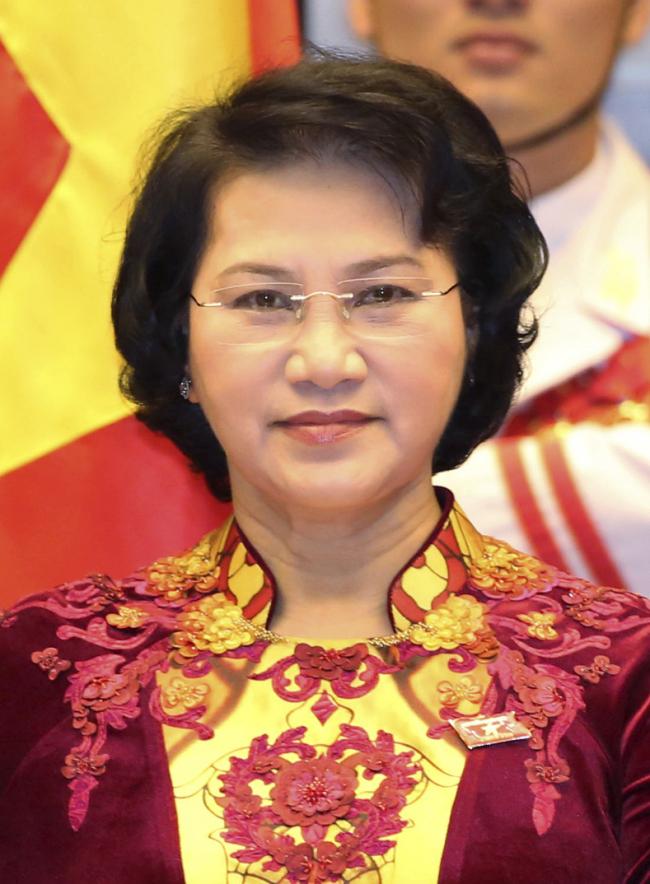 Vietnamese National Assembly Chairwoman Thi Kim Ngan (AP-Yonhap)