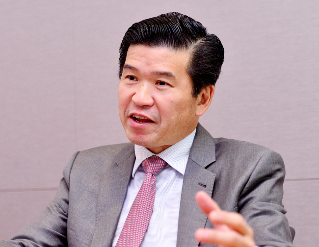 James Kim, chairman of the American Chamber of Commerce (Park Hyun-koo/The Korea Herald)