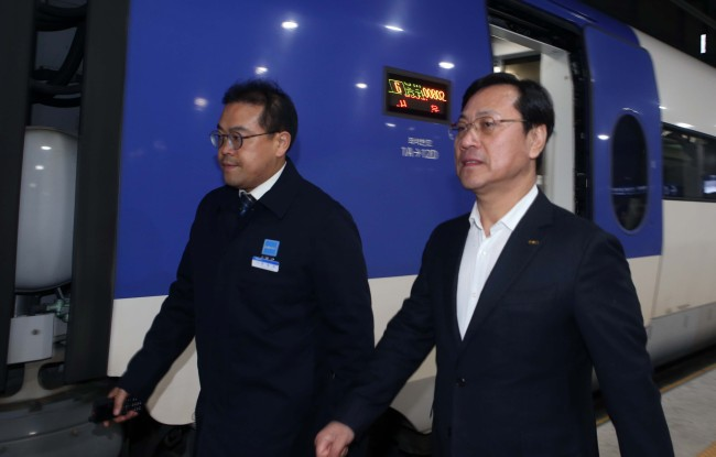 Korail CEO Oh Young-sik (Yonhap)