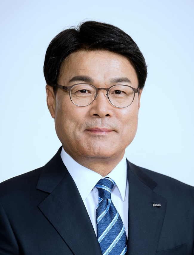 Posco Chairman Choi Jung-woo (Posco)