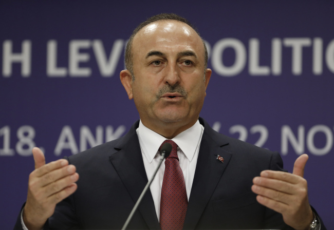 Turkish Foreign Minister Mevlut Cavusoglu (AP/Yonhap)