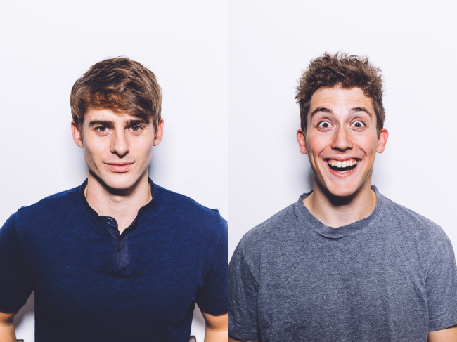 YouTubers Josh Carrott (left) and Ollie Kendal (CICI)
