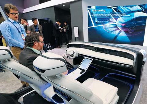 Bespielbares Display von Hyundai Mobis