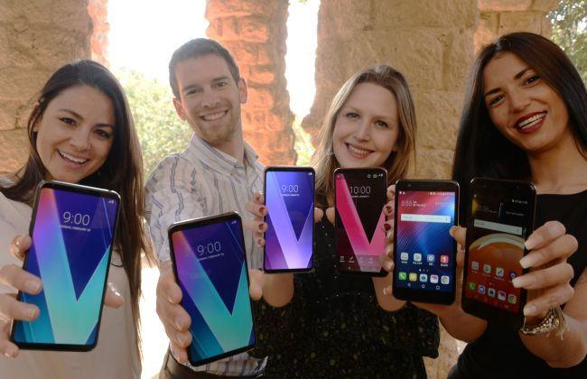 LG's V30S ThinQ models (LG Electronics)