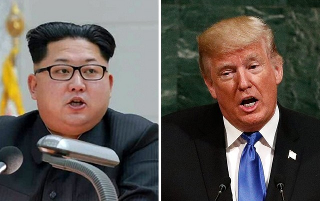 North Korean leader Kim Jong-un (left) and US President Donald Trump (right). (Yonhap)