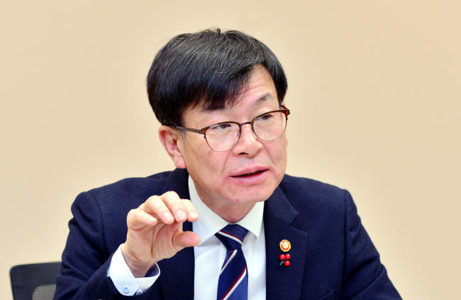 Kim Sang-jo, chairman of the Fair Trade Commission (Park Hyun-koo / The Korea Herald)