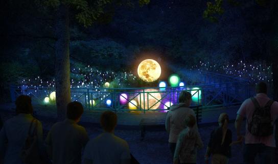 Concept art for Sonata of Light at the Hansol Oak Valley Resort. (Oak Valley)