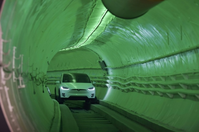 The idea for the tunnel project came to Elon Musk when he was fuming at the wheel of his car, trapped in traffic jams between his Bel Air villa and the SpaceX offices (AFP)