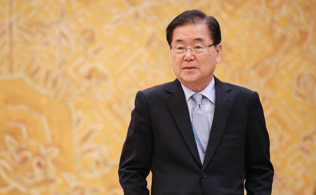Seoul's National Security Adviser Chung Eui-yong (Yonhap)