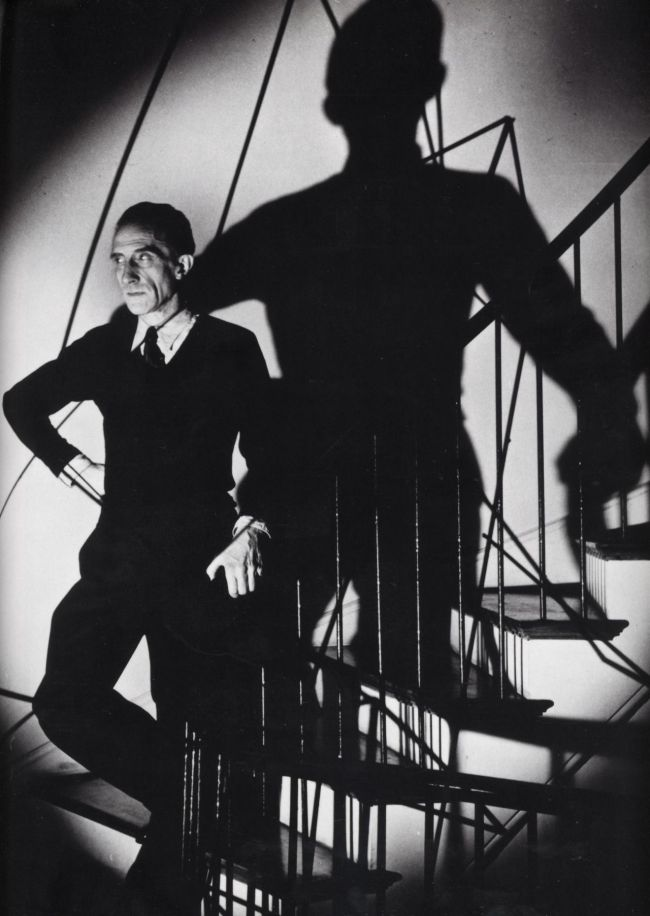 """Duchamp Descending a Staircase"" (1946) by George Karger (Association Marcel Duchamp)"