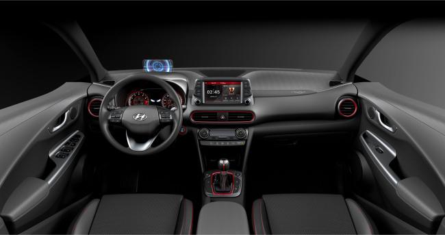 The front interior of Hyundai Motor's Kona Iron Man edition (Hyundai Motor)