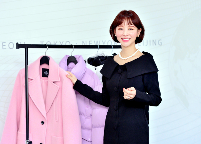 Im Ji-hyun, creative director at Imvely, poses for a photo during an interview with The Korea Herald in her office in Gasan-dong, Seoul. (Park Hyun-koo/The Korea Herald)
