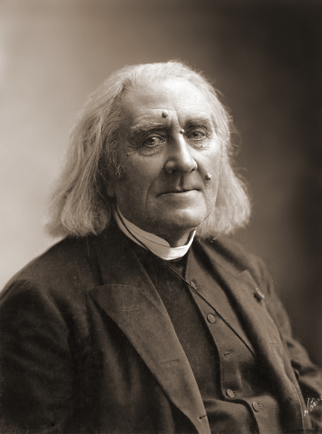 Hungarian composer Franz Liszt photographed in March 1886, four months before his death (Gaspard-Felix Tournachon)