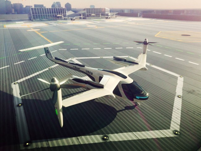 Uber's flying car concept Elevate (Uber Technologies)