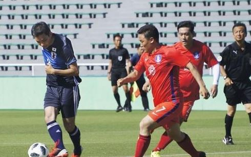 Friendly match between South Korean and Japanese lawmakers (Yonhap)