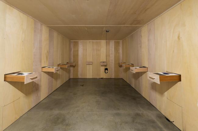 "Kim's 2018 installation work ""Ecosystem"" (SongEun Art and Cultural Foundation)"