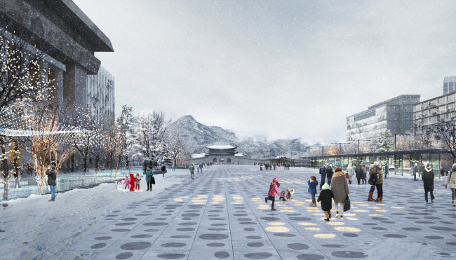 Blueprint of new Gwanghwamun Square to be completed in 2021 (Seoul Metropolitan Government)