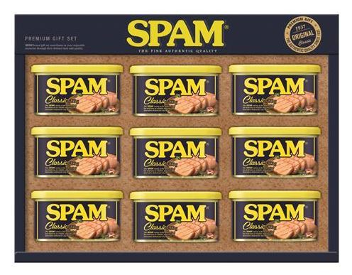 A typical Spam holiday gift set (Yonhap)