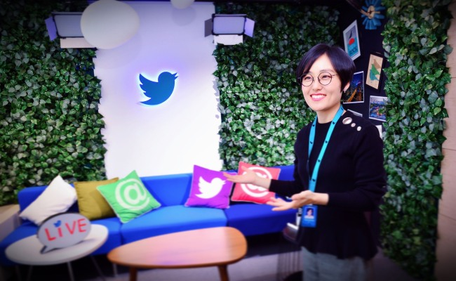 Kim Yeonjeong, head of global content partnerships at Twitter Korea (Park Hyun-koo/The Korea Herald)