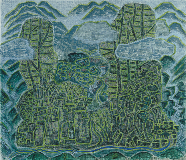 "Min Joung-ki's 2007 work ""Jangsudae: Mugan-ri at Mt. Yongmoon"" (Kukje Gallery)"