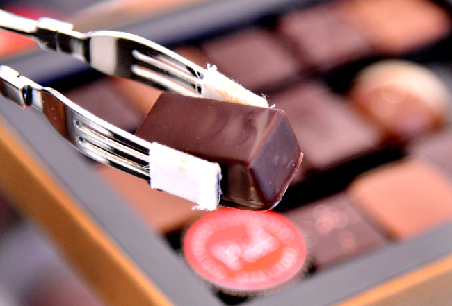 Chocolates are on display at Piaf Artisan Chocolatier (Park Hyun-koo /The Korea Herald)