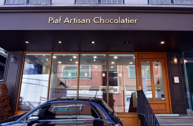 Piaf Artisan Chocolatier located in Sinsa-dong, southern Seoul (Park Hyun-koo /The Korea Herald)
