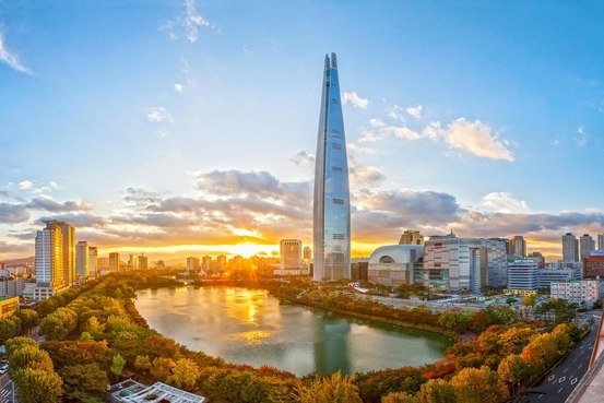 The Lotte World Tower in Jamsil, southeastern Seoul (Lotte Property & Development)