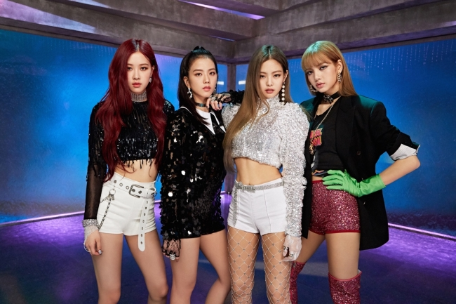 K-pop group Black Pink is featured in Woori Bank's ad. (Woori Bank)