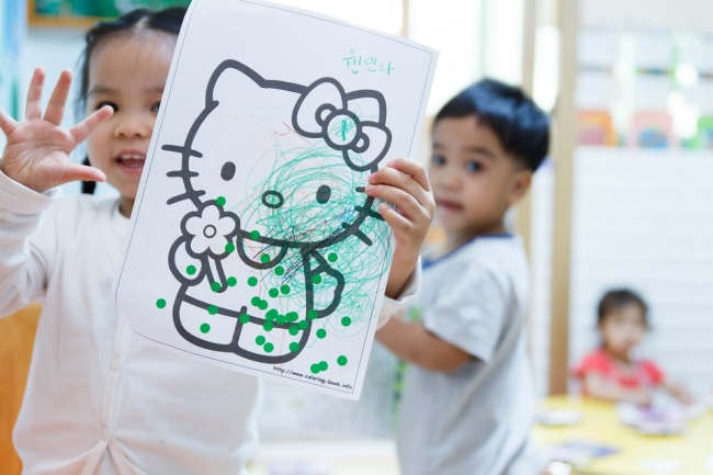 Children attend the Asiachang Day Nursery that caters to migrant children, in Gunpo, Gyeonggi Province (Beautiful Foundation-Asiachang Day Nursery)