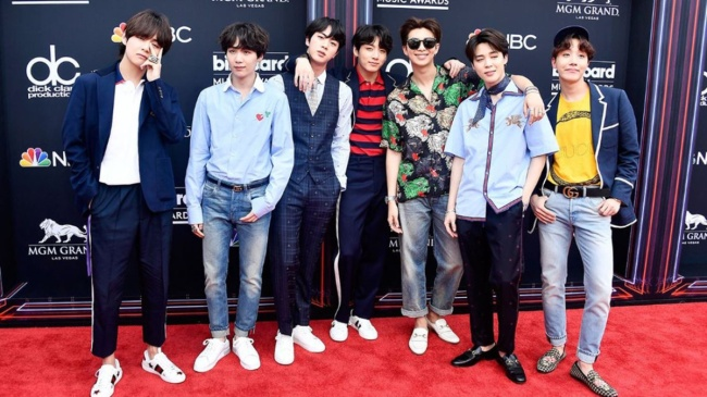BTS attends the 2018 Billboard Music Awards at MGM Grand Garden Arena on May 20, 2018 in Las Vegas (Yonhap)