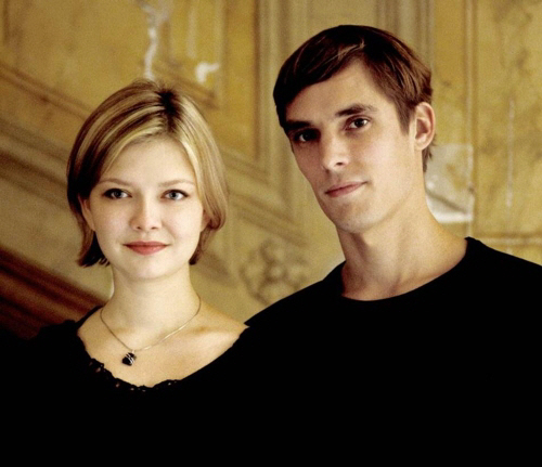 Violinist Alina Ibragimova (left) and pianist Cedric Tiberghien (LG Arts Center)