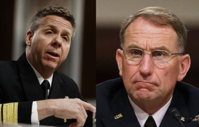 Adm. Philip Davidson (left) and Gen. Robert Abrams (AP)