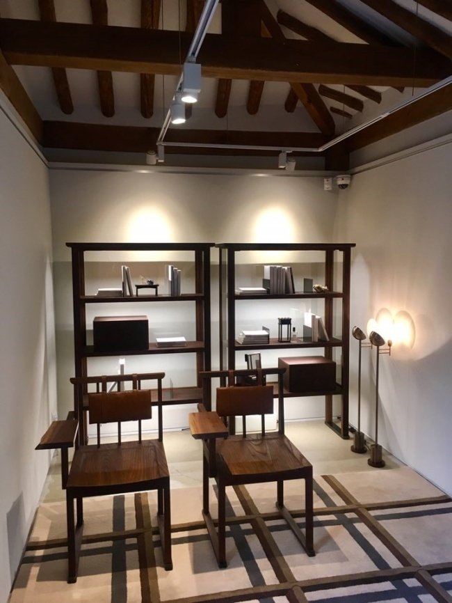 Pieces of furniture designed by Teo Yang are displayed at Yeol Bukchonga in central Seoul. (Im Eun-byel / The Korea Herald)