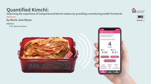 The kimchi timer developed by Maria Jose Reyes Castro (KAIST)